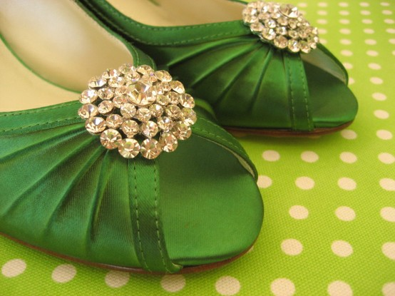 Shoes emerald green 2013