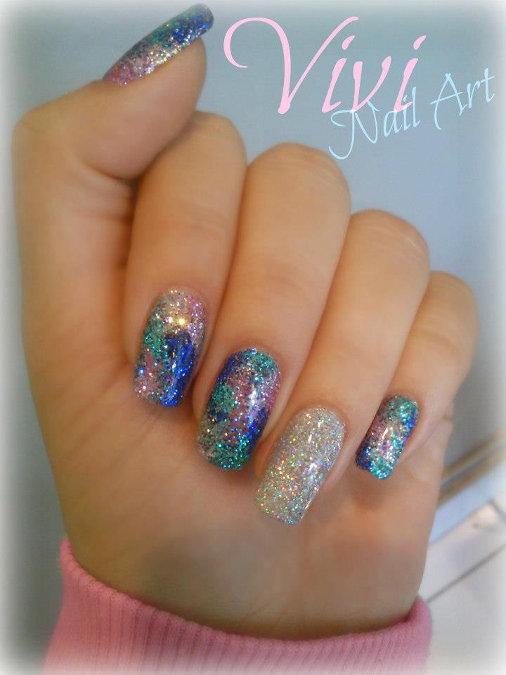 Latest nail art designs 2012 2013 nail polish designs for girls liquid or powdered both types of glitters are used in making glitter nail art designs you can get ideas about latest glitter nail art designs by our prinsesfo Image collections