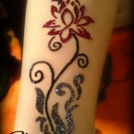 Stylish glitter tattoos