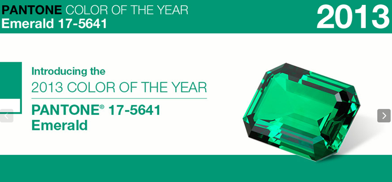 Color of the year emerald 2013