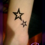 simple glitter tattoo designs