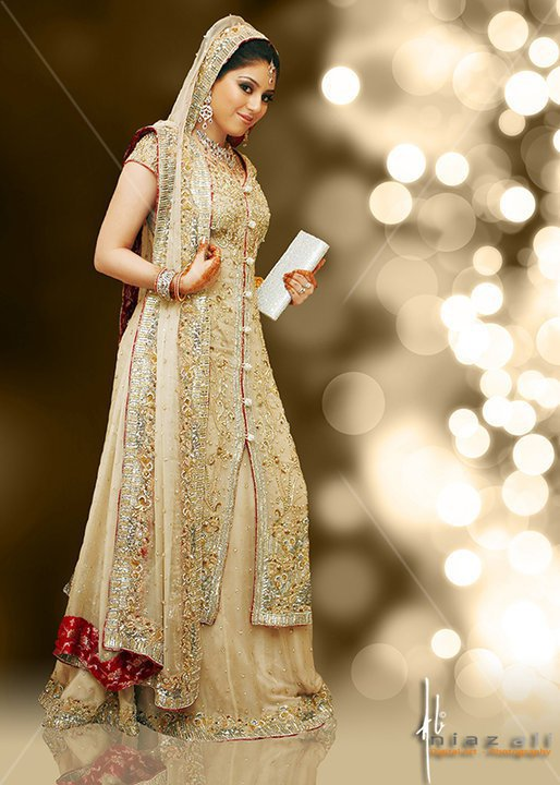 Bridal long shirt lehnga 2013 pakistani wedding dresses for Pakistani dresses for wedding parties