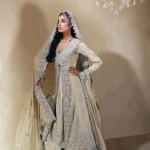 Ash white bridal dresses for walima