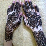 Beautiful heena designs for brides