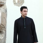 Branded kurta designs - Black kurta for men