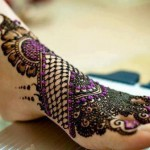 Bridal heena designs for feet