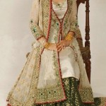 Bridal lehngas pakistani in green shade