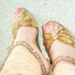 Bridal shoes for mehndi