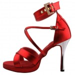 Bridal shoes in red color