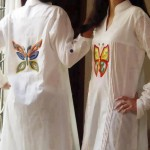 Butterfly logo pakistani casual dress