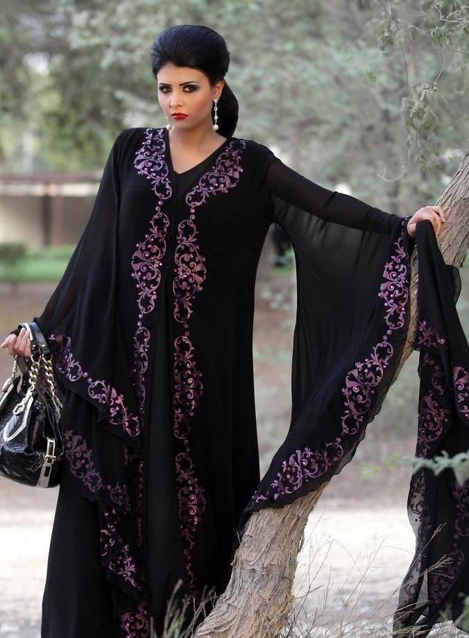 Image result for Embroidery Abayas