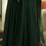 Embroidered dresses in green color