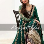 Embroidered green dress for weddings