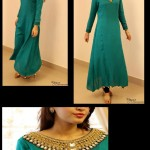 Embroidered green dresses for weddings