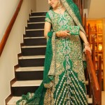 Emerald green bridal dress designs 2013
