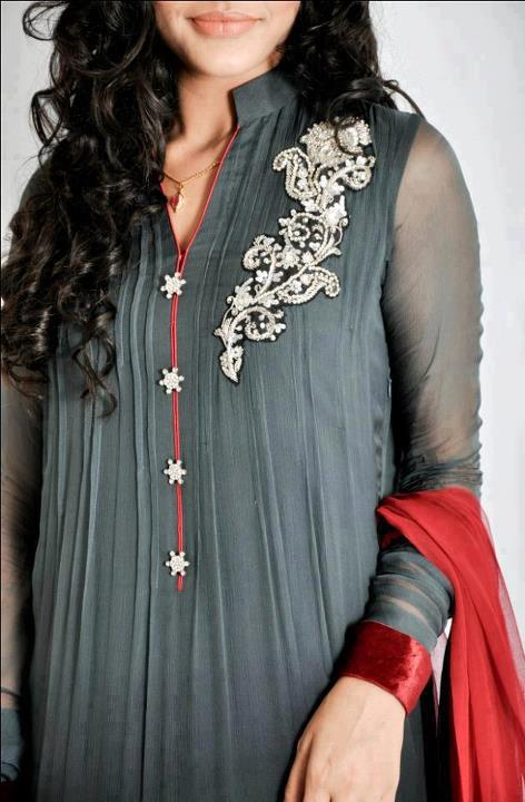 stylish embroidered party wear collection pakistani