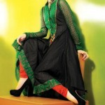 Frock designs in green color