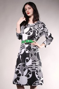 Graphic print monochrome dresses 2013