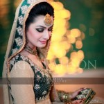 Green and skin bridal dresses 2013