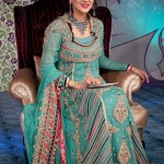 Green Indian bridal outfits 2013