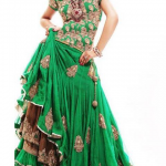 Green pakistani bridal dresses