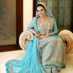 Latest designs of bridal walima dresses 2013