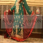 Latest designs of green bridal frocks
