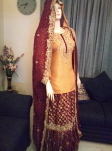 Mehndi dress by creations