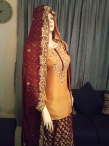 Mehndi dress for bride
