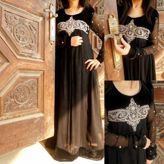 Monochrome pakistani dresses
