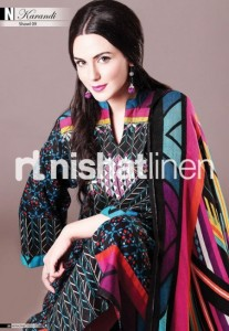 Pakistani dress with graphic printing