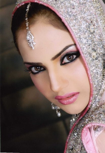 Wedding Eye Makeup Pink : Bridal walima makeup Pakistani bridal makeover