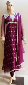 Purple frock design
