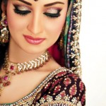 Shimmery eyes walima makeup