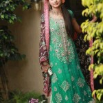 Stylish green bridal long shirt
