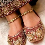 Traditional bridal shoes