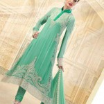 Uzma creations green dress for girls