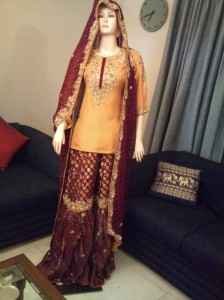 bridal sharara pakistani