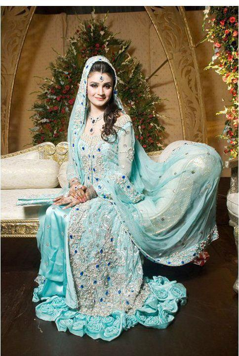 embroidered bridal walima dresses