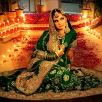 green bridal lehngas for pakistani brides