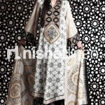 long shirt graphic print by nishat linen