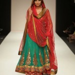 red and green bridal dresses 2013
