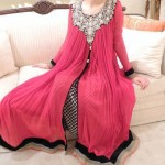 stylish open shirt pakistani dress