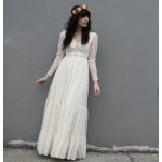 vintage-1970's lace wedding dress