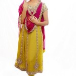 Anarkali frock for bridal mehndi