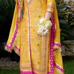 Bridal mehndi dress with choori pajama