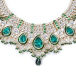 Emerald kundan jewelry for bride