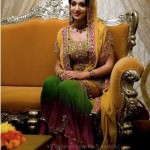 Mehndi dresses for brides 2013