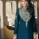 PAkistani dresses with closed neck