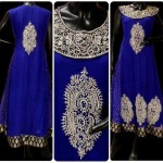 Pakistani dresses silver embroidery